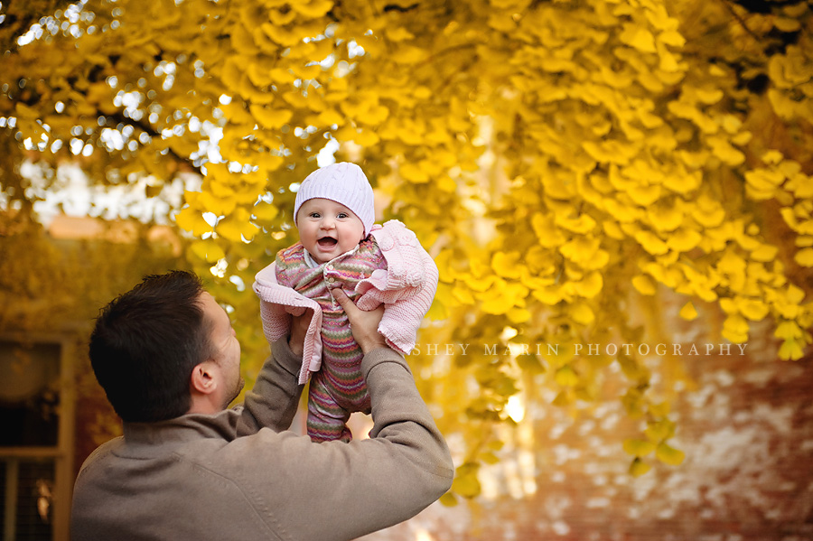 baby in oldest living gingko tree