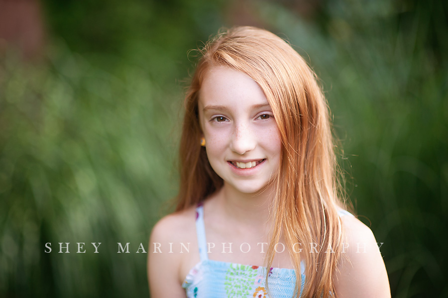 Red headed 10 year old in Frederick Maryland