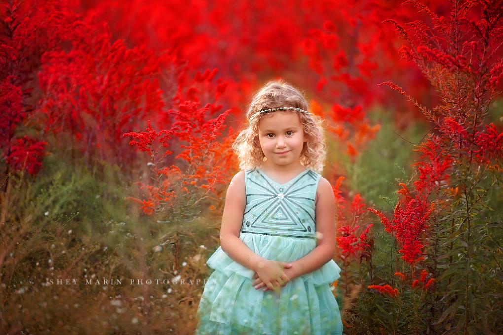 Frederick Maryland childrens photographer | wildflower field