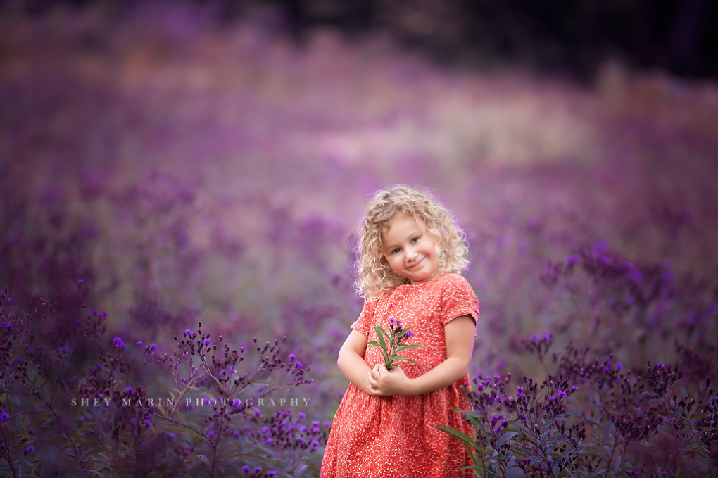 purple flower | Frederick Maryland child photographer
