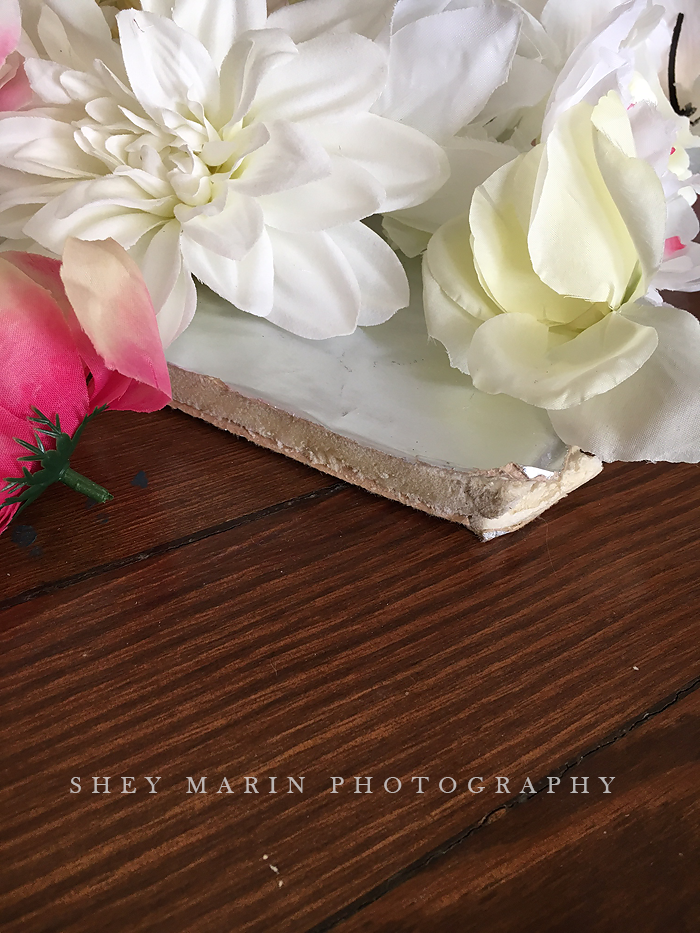 Flower wall | Frederick Maryland newborn photography studio