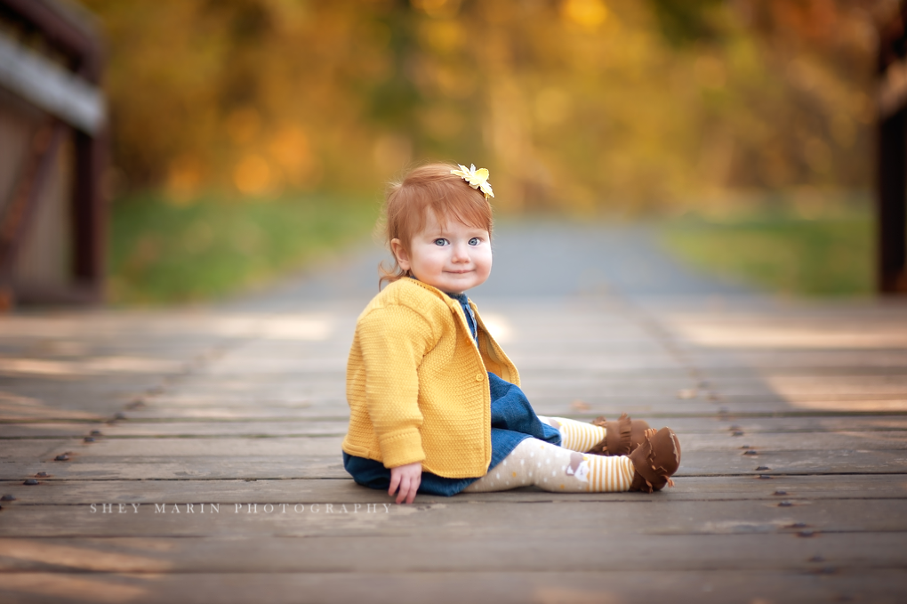 adorable redheaded baby girl | Maryland family photographer