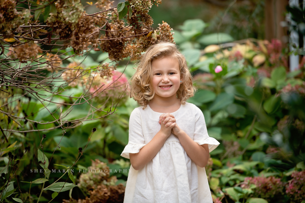 Frederick Maryland child in a linen dress