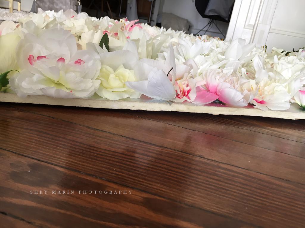 ... Flower wall | Frederick Maryland newborn photography studio